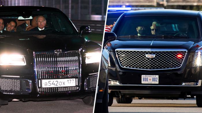 В Великобритании сравнили Cadillac Байдена иAurus Путина