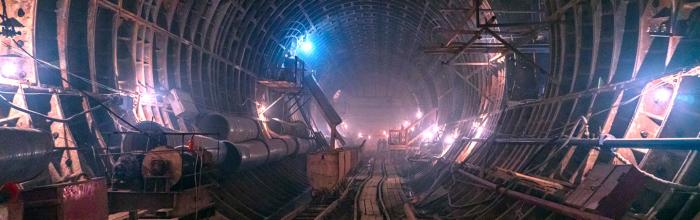 Андрей Бочкарёв: Завершено остекление вестибюля станции «Марьина Роща» БКЛ метро