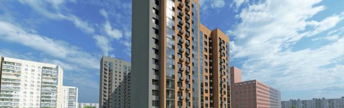Шестисекционный дом по реновации в Перово облицуют бетонной плиткой двух цветов