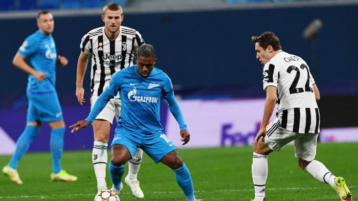 «Зенит» на последних минутах проиграл «Ювентусу» в матче Лиги чемпионов