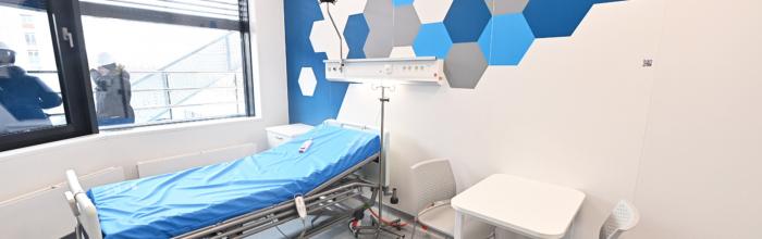 Фасад северного корпуса лечебно-диагностического комплекса ИКБ № 1 готов на 78%
