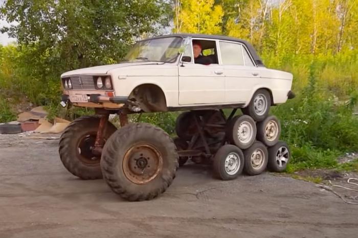 ВРоссии построили четырнадцатиколесный автомобиль