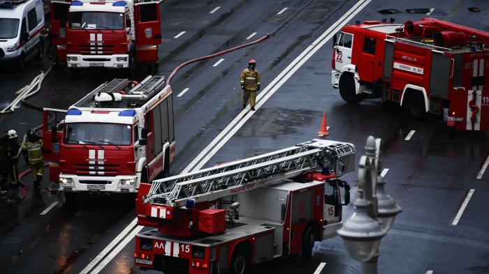 В башне «Меркурий» комплекса «Москва-Сити» произошло возгорание