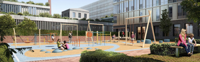 Пешеходная зона с яблоневым садом появится в районе Пресненский