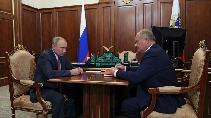 Путин обсудил с Зюгановым работу КПРФ в новом составе Госдумы