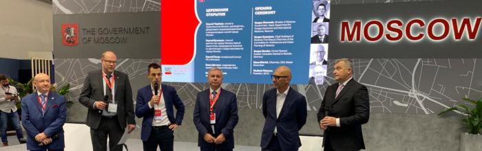 Стенд правительства Москвы на Expo Real вызывает большой интерес у посетителей выставки